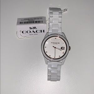 NWT beautiful coach white and gold watch